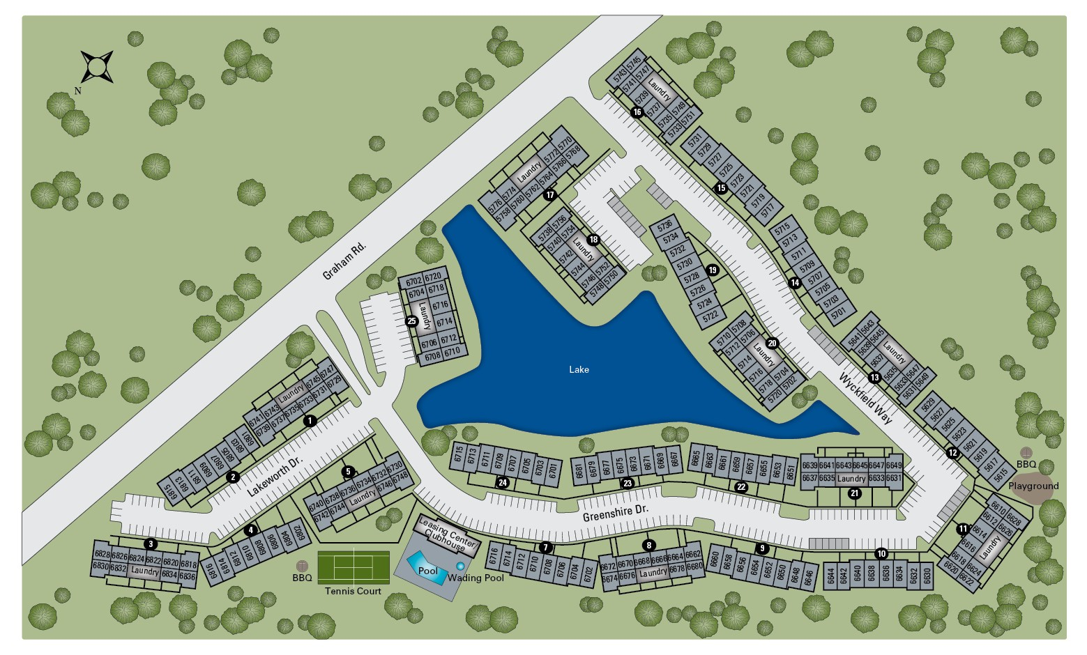 TGM Avalon Lake Apartments Map