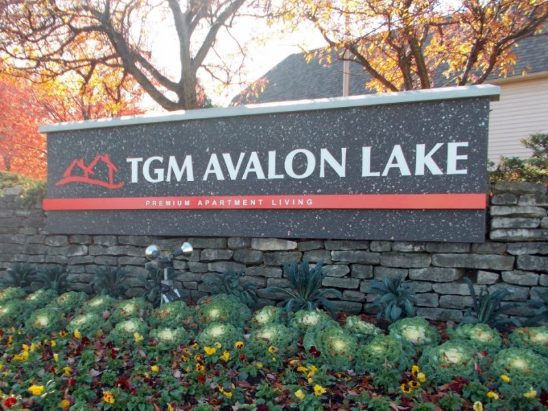 TGM Avalon Lake Apartments Monument sign